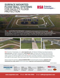 RSA Surface Mounted Floodwall Systems Advertising Flyer