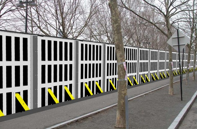 RSA Movable Barrier Floodwall System - Raised